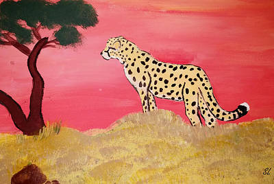 Painting - Cheetah Painting by Sarah  Lalonde