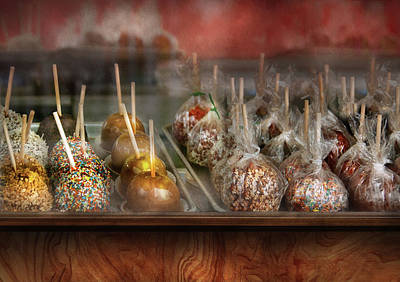 Chef - Caramel Apples For Sale  Print by Mike Savad