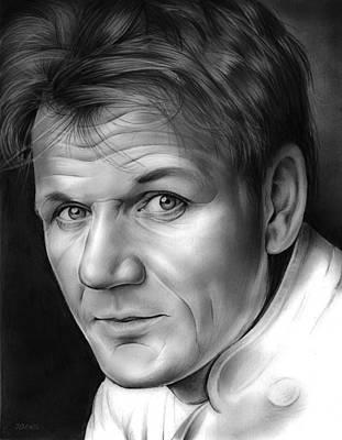 Celebrity Drawing - Chef Ramsay by Greg Joens