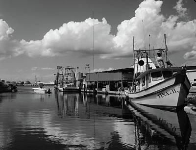 St.bernard Parish, Chelmette Shrimping Boats Print by Bob Adsett