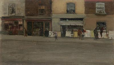 Tonalist Painting - Chelsea Shops by James Abbott McNeill Whistler