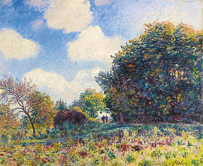 Alfred Sisley Painting - Chemin A L'entree D'un Bois by Alfred Sisley