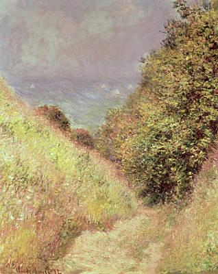 Walking Path Painting - Chemin De La Cavee Pourville by Claude Monet