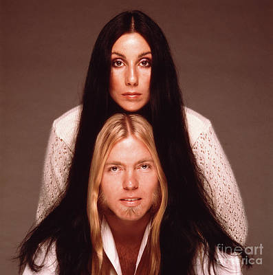 Cher Photograph - Cher And Allman by Terry O'Neill