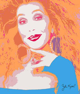 Cher Painting - Cher by John Keaton