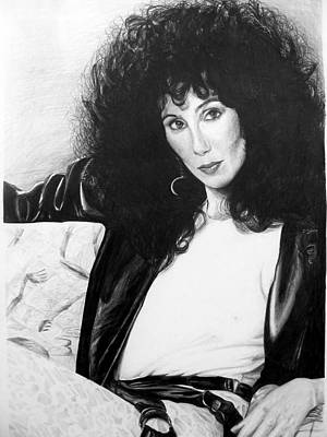 Beverly Hills Drawing - Cher by Peter Jurik