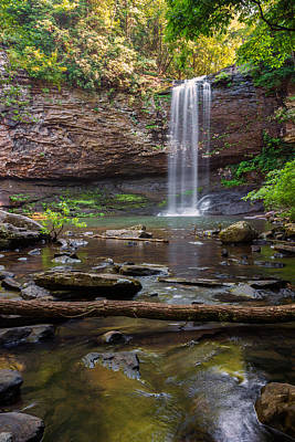 White River Scene Photograph - Cherokee Falls - Cloudland State Park Georgia by Brian Harig