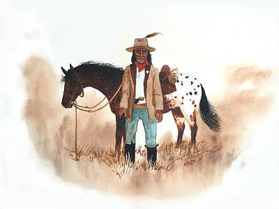 Painting - Cherokee Lighthorse by John Guthrie
