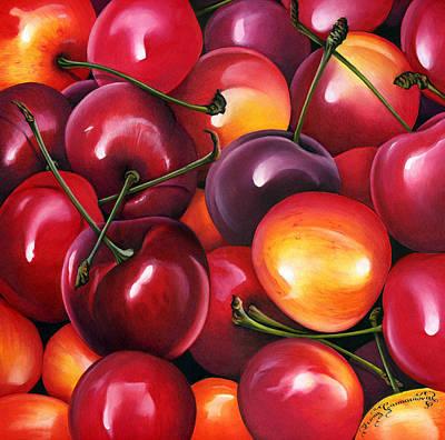 Red Fruit Photograph - Cherries by Irina Garmashova-Cawton