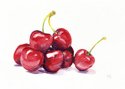 Red Fruit Painting - Cherries by Michelle Sheppard