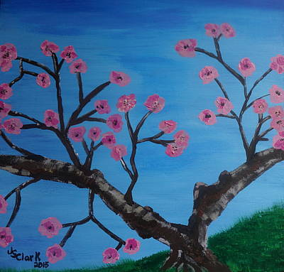Tidal Basin Painting - Cherry Blossoms II by Jimmy Clark