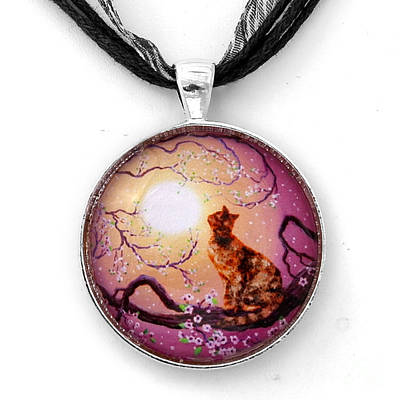 Rose Gold Jewelry - Cherry Blossom Waltz Handmade Pendant by Laura Iverson