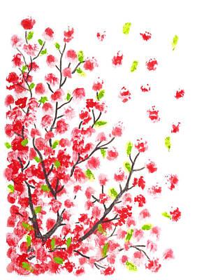 Sakura Painting - Cherry Blossom Watercolor Painting by Olga Hague