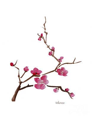 Cherry Blossoms 1 Print by McKenzie Leopold