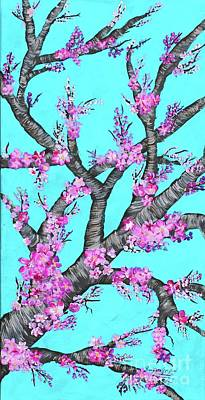 Painting - Cherry Blossoms Against A Turquoise Sky 1 by Barbara Griffin