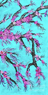 Painting - Cherry Blossoms Against A Turquoise Sky 2 by Barbara Griffin