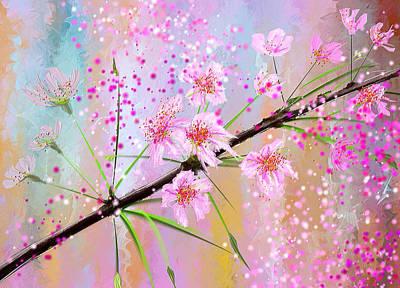 Cherry Blossoms Art Print by Lourry Legarde