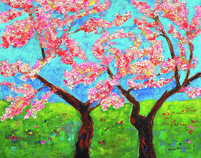 Lif Painting - Cherry Blossoms by Haleh Mahbod