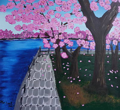 Tidal Basin Painting - Cherry Blossoms by Jimmy Clark