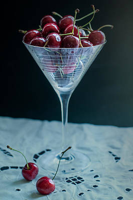 Red Fruit Photograph - Cherry Cocktail by Maggie Terlecki