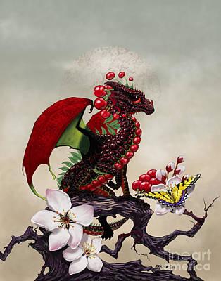 Cherry Dragon Print by Stanley Morrison