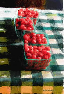 Cherry Tomato Basket Print by RG McMahon