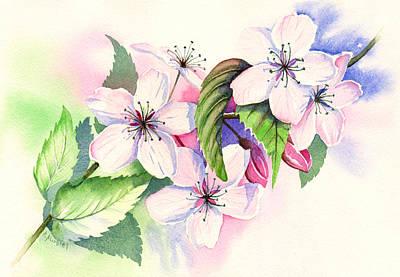 Brunch Painting - Cherry Tree by Alina Kurbiel