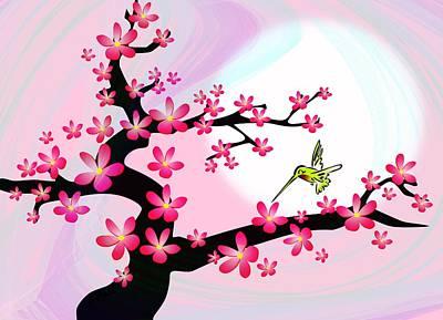 Cherry Tree Print by Anastasiya Malakhova