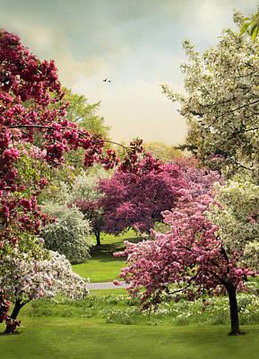 Daffodils Digital Art - Crabapple Tree Grove by Jessica Jenney