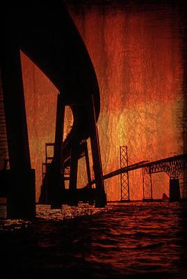 Chesapeake Bay Bridge Artistic Print by Skip Willits