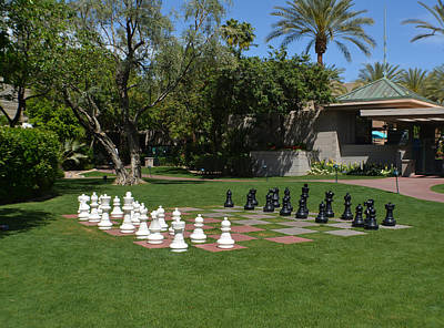 Landscape Photograph - Chess At The Biltmore by Aimee L Maher Photography and Art Visit ALMGallerydotcom