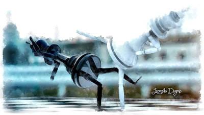 Champion Digital Art - Chess Figthers  - Aquarell Style -  - Da by Leonardo Digenio