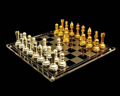 Chess Print by Michael Peychich