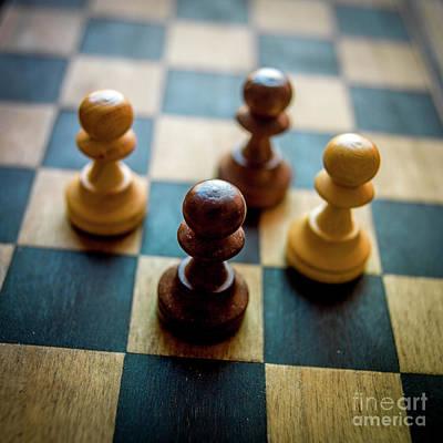 Chess Piece Print by Bernard Jaubert