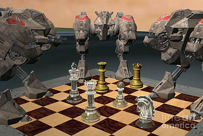 Futuristic Chess Series 01 Print by Carlos Diaz