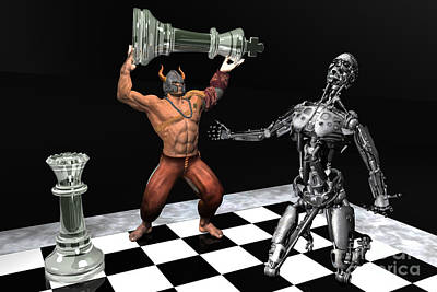 Futuristic Chess Series 03 Print by Carlos Diaz