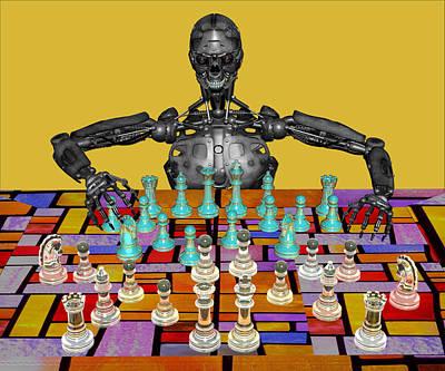 Futuristic Chess Series 04 Print by Carlos Diaz