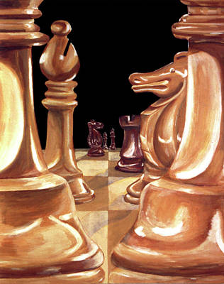 Chessmen Print by Diana Hume