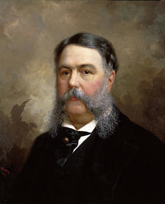 Ole Peter Hansen Balling Painting - Chester A. Arthur by Ole Peter Hansen Balling