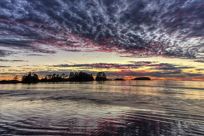 Chesterman Beach Sunset Print by Mark Kiver
