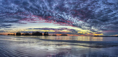 Chesterman Beach Sunset Panorama Print by Mark Kiver