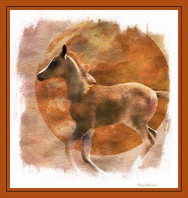 Purebred Digital Art - Chestnut Foal by EricaMaxine  Price
