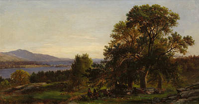 Gerry Painting - Chestnut Trees At Bolton by Lake George