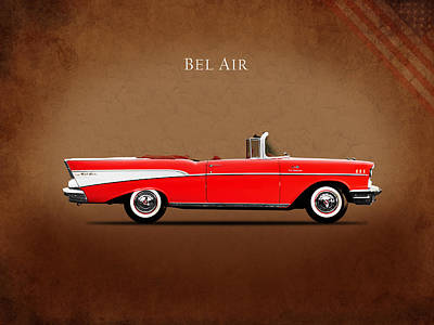 Chevrolet Bel Air Convertible 1957 Print by Mark Rogan