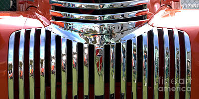 Chevrolet Grille 01 Print by Rick Piper Photography