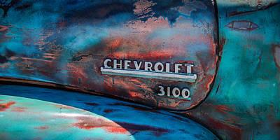 Chevrolet Truck Side Emblem -0842c2 Print by Jill Reger