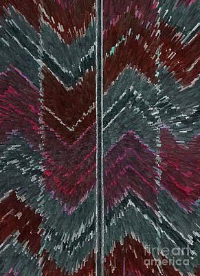 Chevron Effect  Print by Norma Appleton