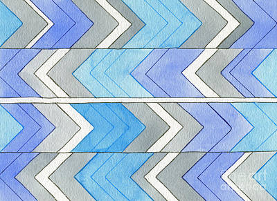 Chevron Sensation Print by Norma Appleton