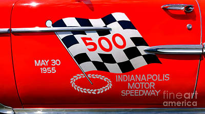 Livery Photograph - Chevy Bel Air Indianapolis Pace Car by Olivier Le Queinec