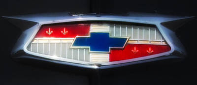Car Photograph - Chevy Emblem by Bill Cannon
